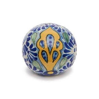 Blue and Yellow Ceramic Talavera Ornament
