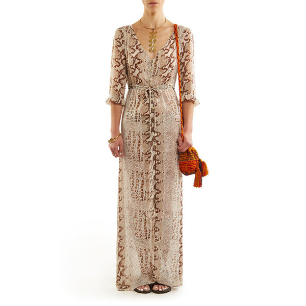 Brown Snake Sara Maxi Dress