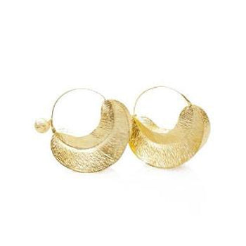 Brushed Gold Chola Earrings