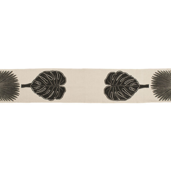 Black & Natural Palma Abanico Table Runner