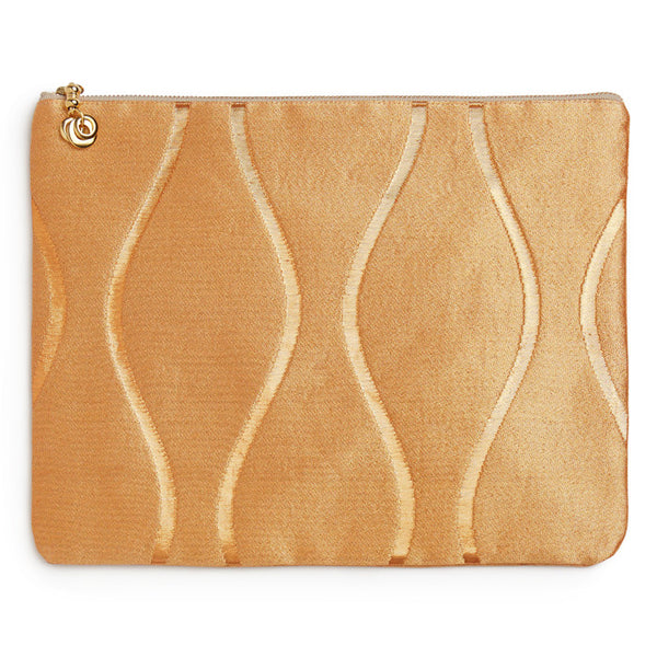 Blush Silk Wave Hanna iPad Clutch