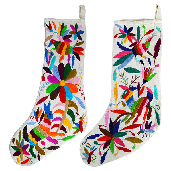 BOUTIQUEMEXICO, Otomi Christmas Stocking