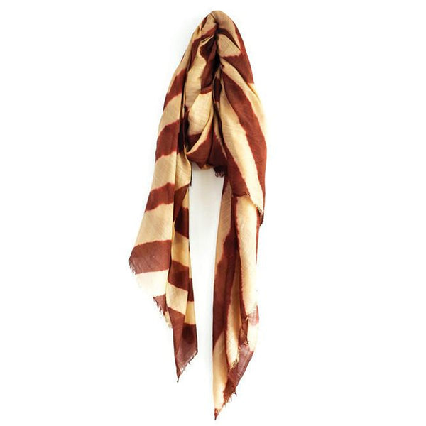 Camel and Burnt Sienna Wool Scarf & Sarong