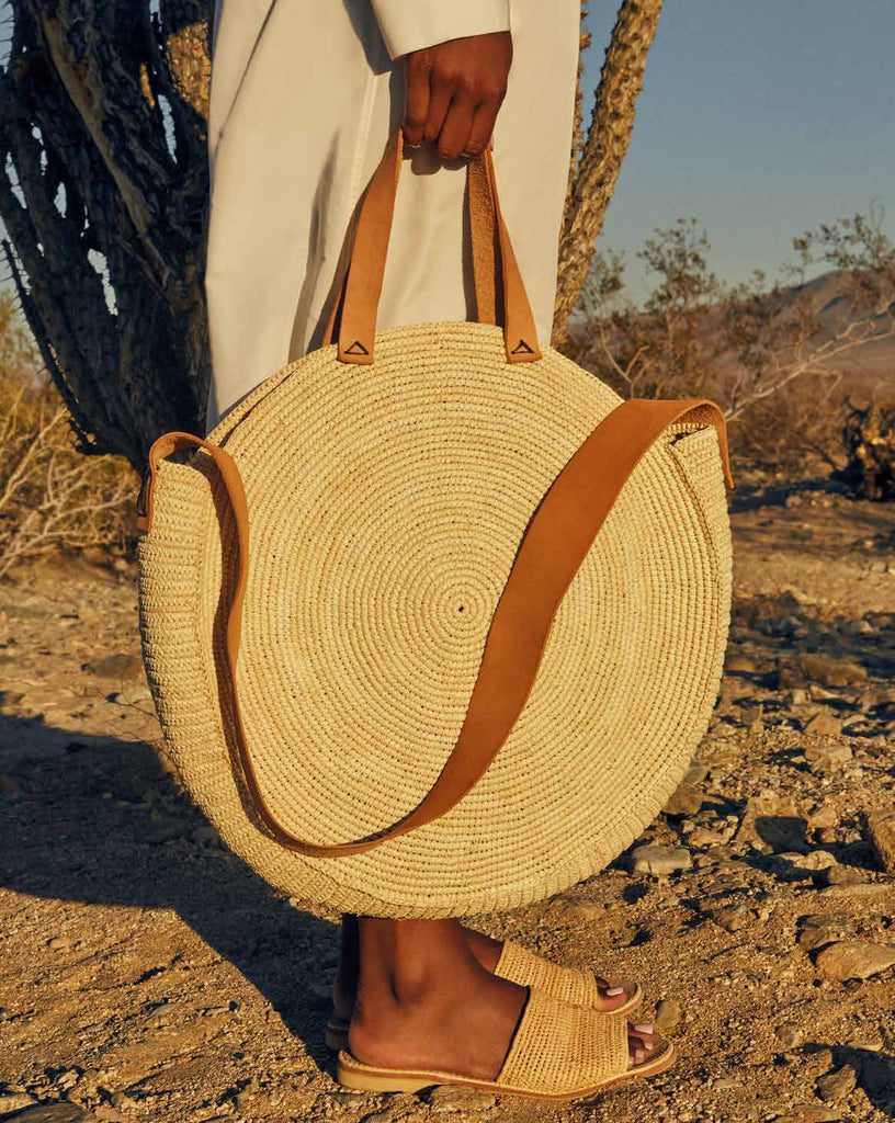 Natural Straw Cabo Shoulder Bag