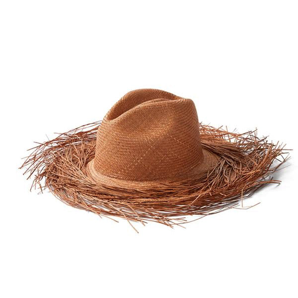 Chocolate Straw Raw Hat