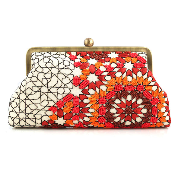 Classic Arabesque Desert Clutch