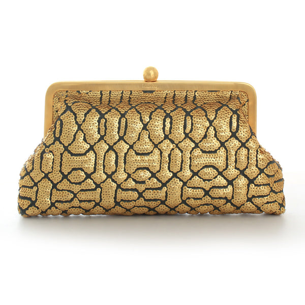 Classic Embossed Gold Clutch