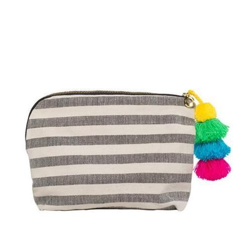 Black Stripe Coco Pouch