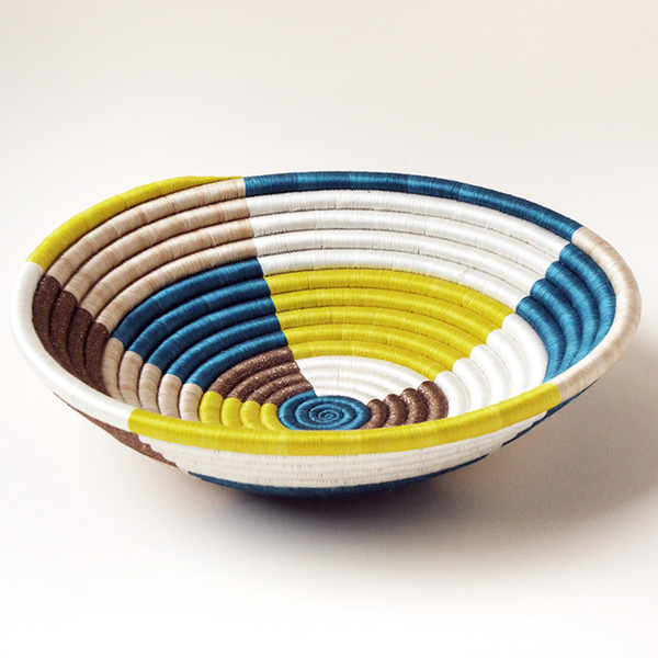 Color Block Plateau Basket