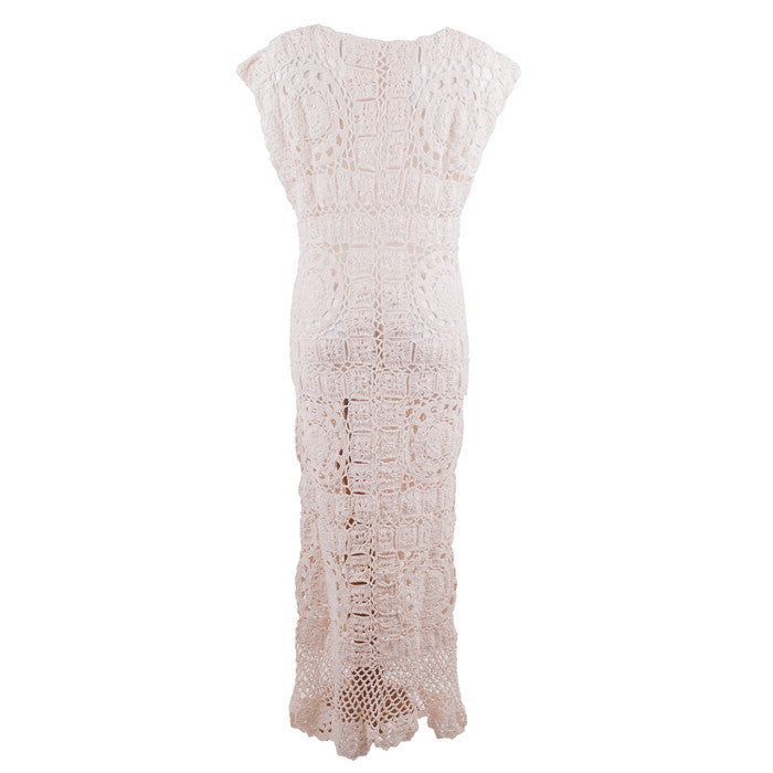 Cream Calypso Crochet Cotton Dress
