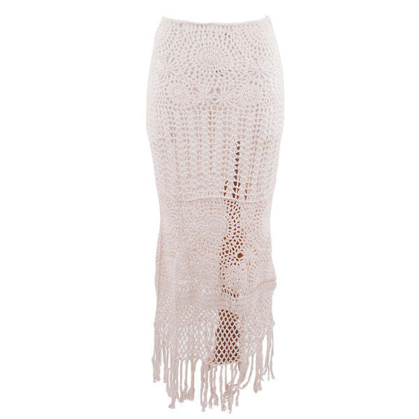 Cream Chiara Crochet Skirt