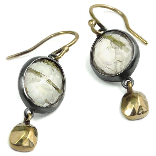 Rutile and Nugget Wabi Earrings
