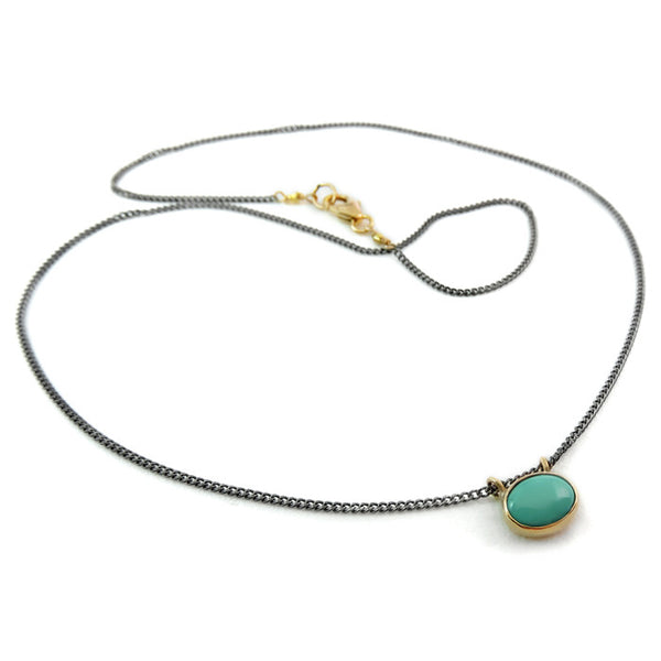 ISHI, Wabi Turquoise Oval Necklace