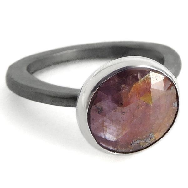 Oversized Natural Stone Ring Hand Made