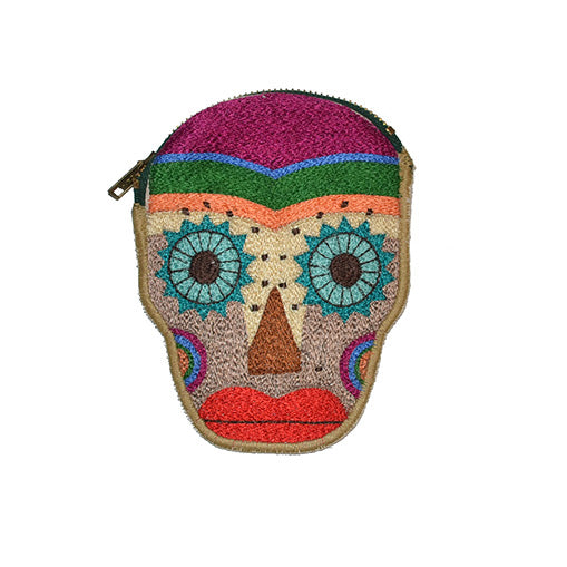 Mexican Skull Pouch
