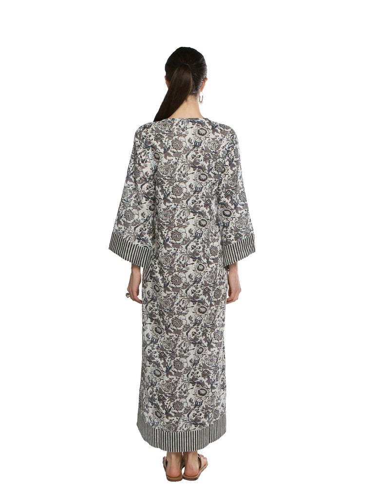 Grey Cotton Exuma Caftan