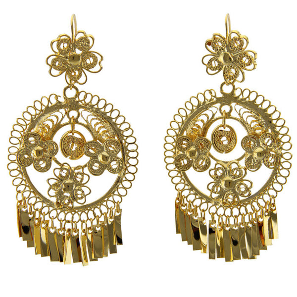 Gold Large Filigree Earrings II