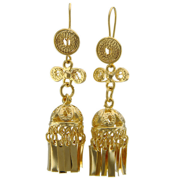 Gold Small Filigree Earrings II