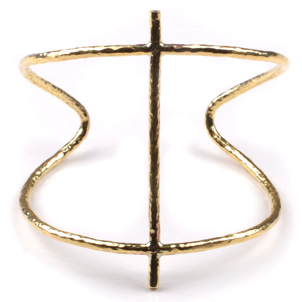 Cross Cuff Hammered