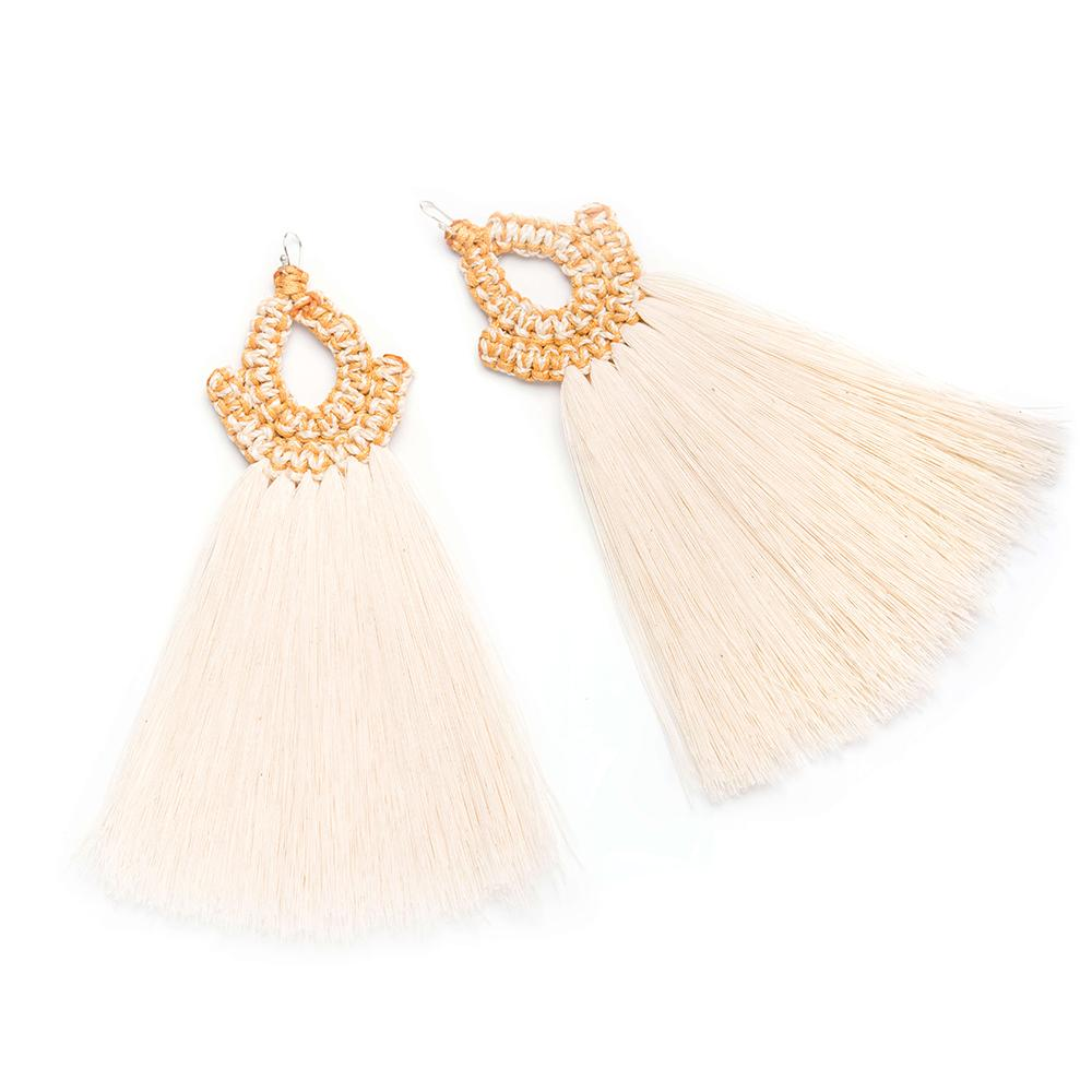 Faisan Raw Cotton Earrings