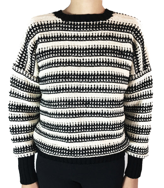 White & Black Ferson Sweater