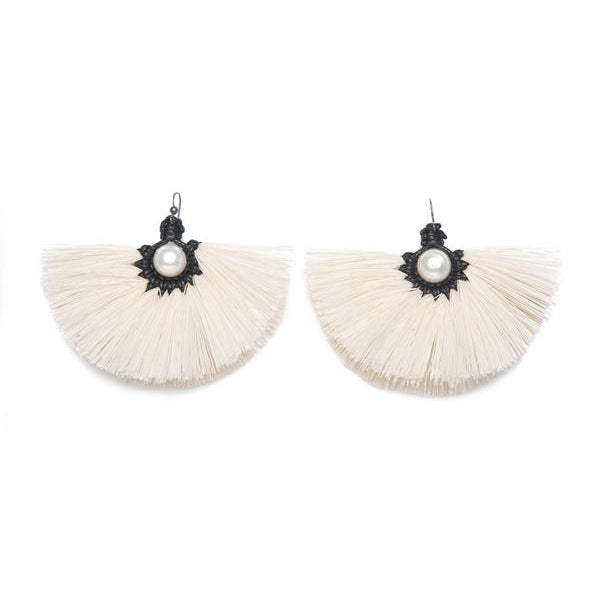 Flor Texcoco Raw Cotton Earrings