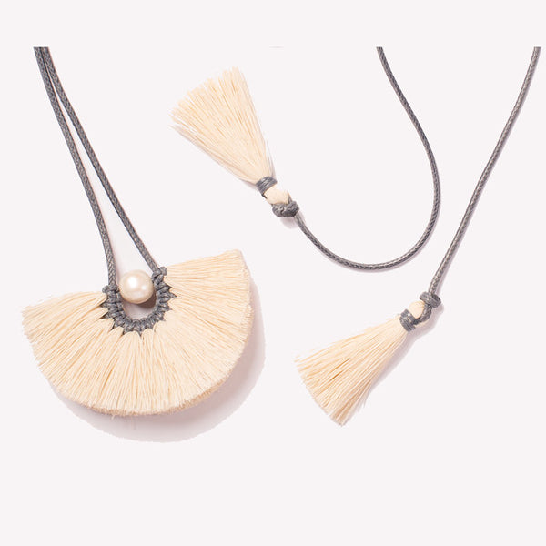 Caralarga, Flor Texcoco Tassel Necklace
