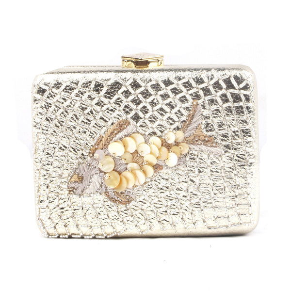 Pearl Fresca Leather Clutch