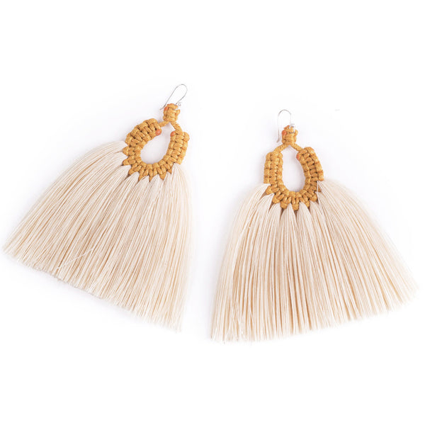 Mustard Yellow Gallos Earrings