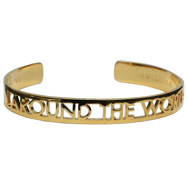 Gold Plated Around the World Bangle
