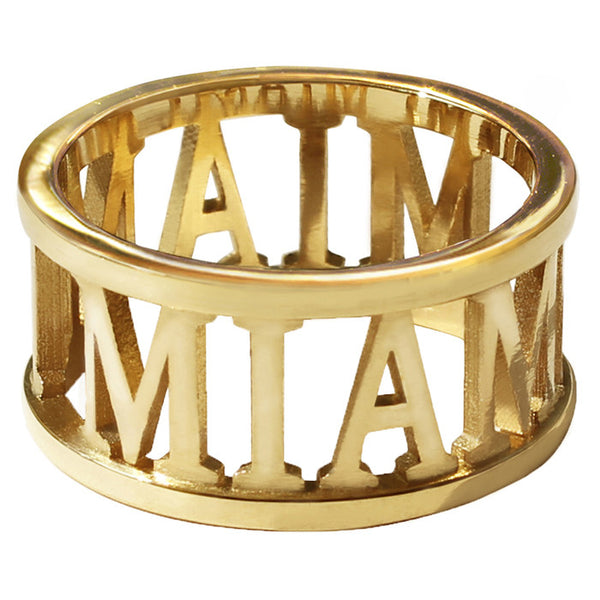 Gold Plated City Ring - Miami