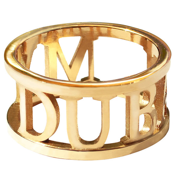 Gold Plated City Ring - My Dubai