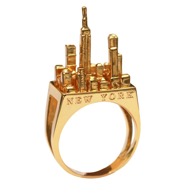 Gold Plated New York Ring