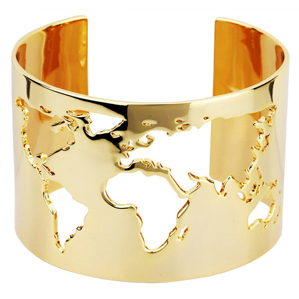 Gold Plated World Cuff
