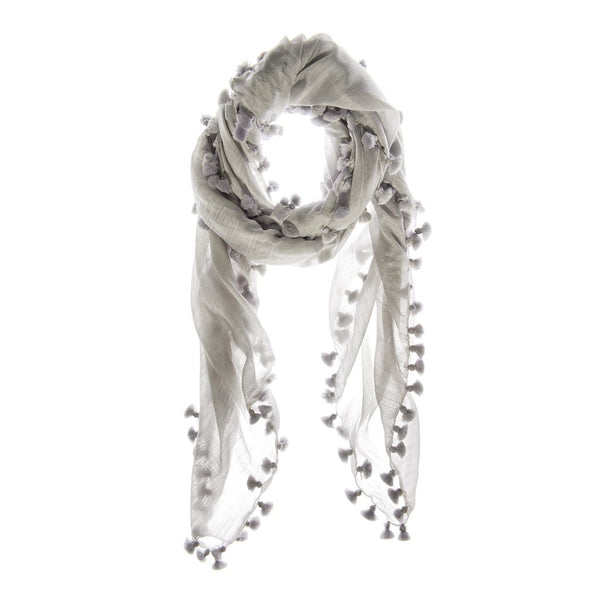 Grey Earth Wool and Silk Scarf