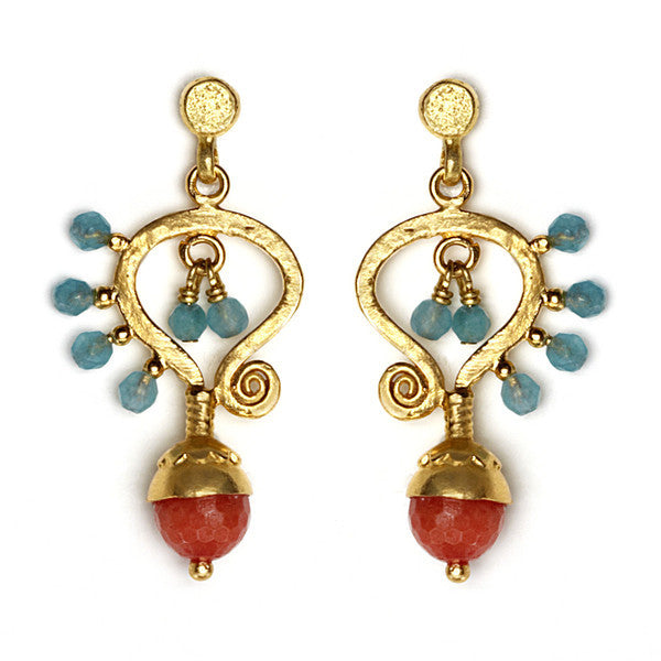 DEACTIVATED FOR API Orange and Blue Handan Earrings