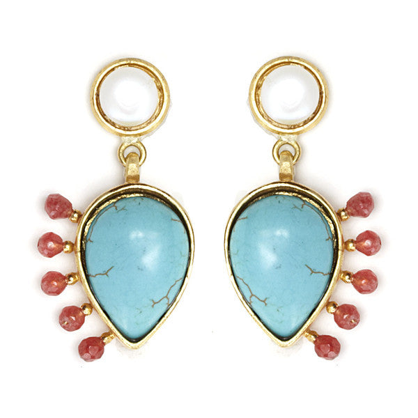DEACTIVATED FOR API Turquoise and Red Handan II Earrings