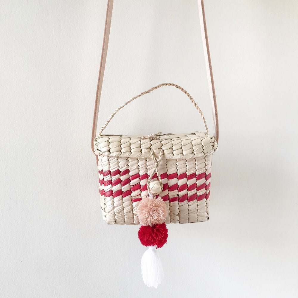 Mini Red Niki Palm Shoulder Bag