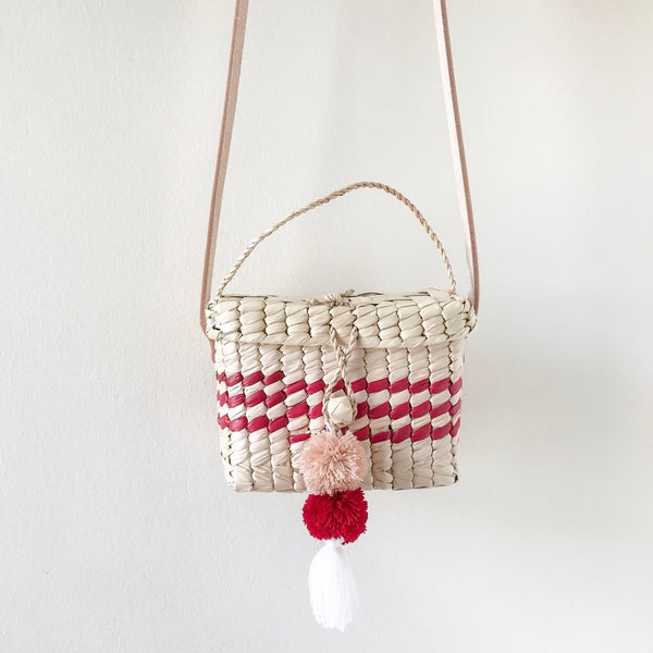 Small Red Niki Palm Shoulder Bag