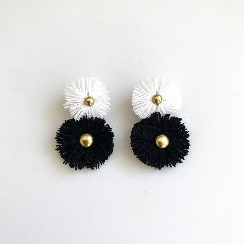 Black & White Soles Earrings