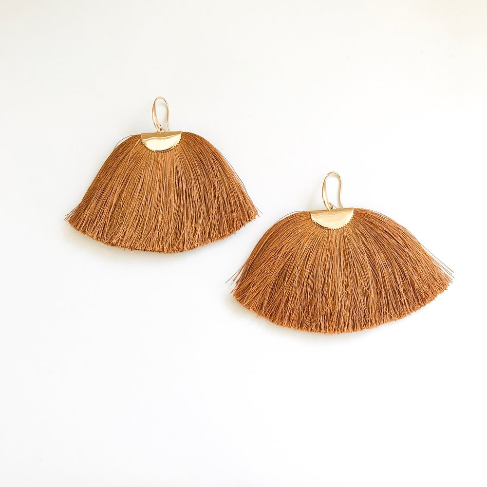 Ochre Silk Isabel Earrings