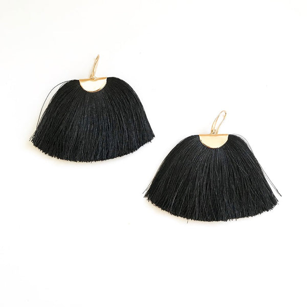 Black Silk Isabel Earrings