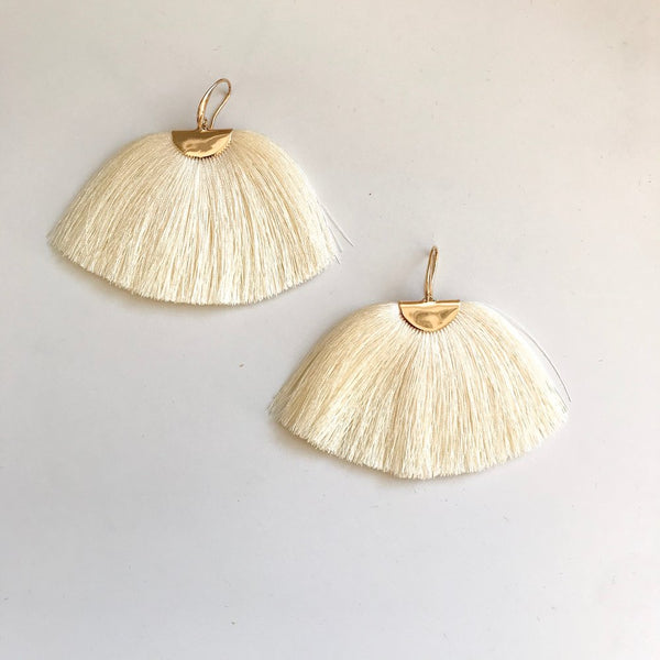 Natural Silk Isabel Earrings