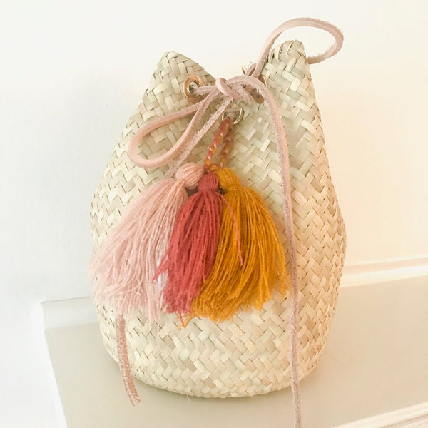 Medium Ochre Palm Mara Bucket Bag