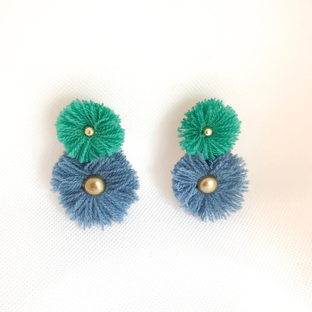 Aqua & Blue Soles Earrings