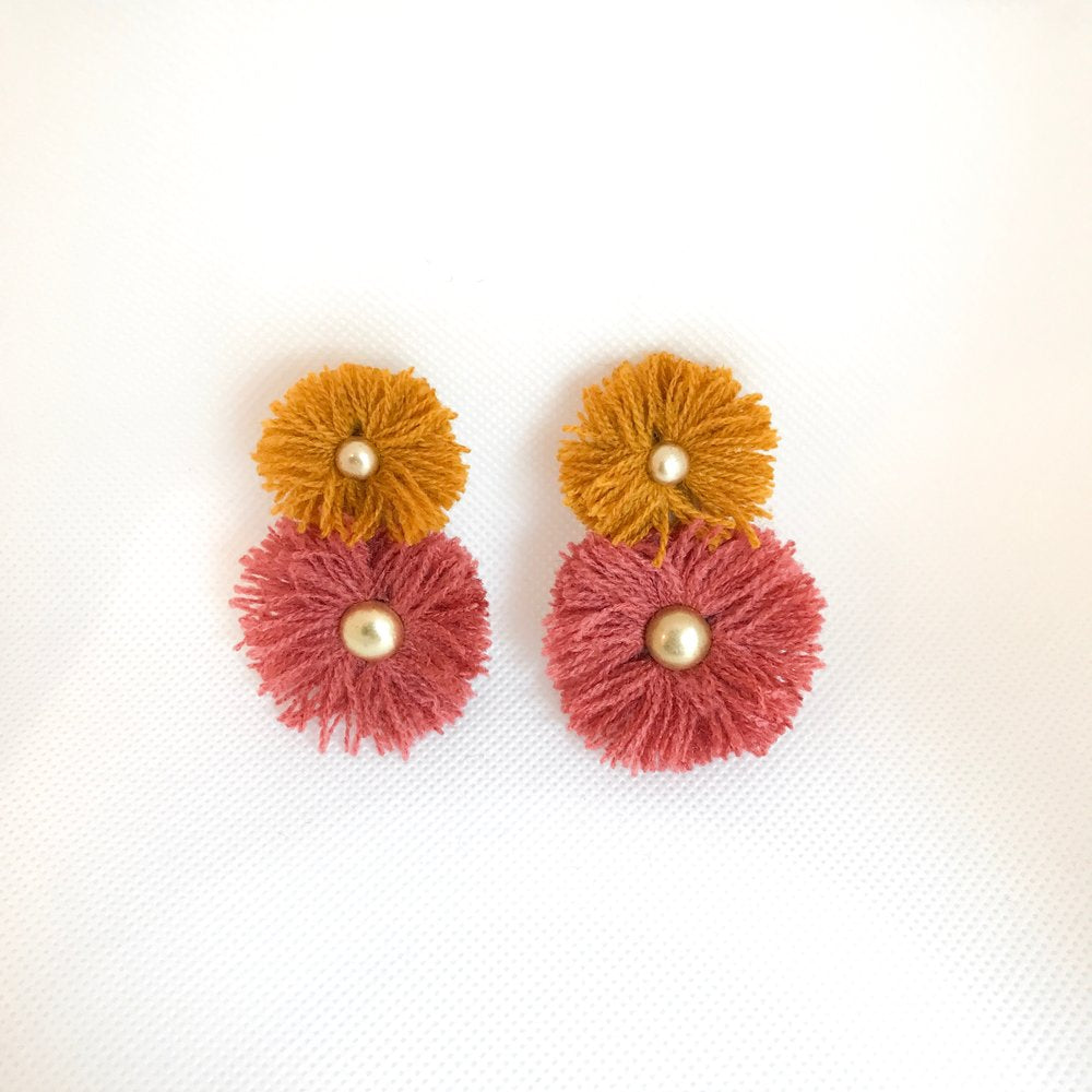Pink & Ochre Soles Earrings