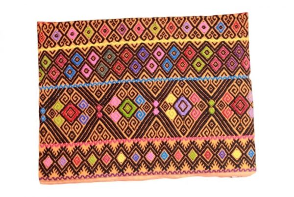 Red Cotton Mexican Pouch