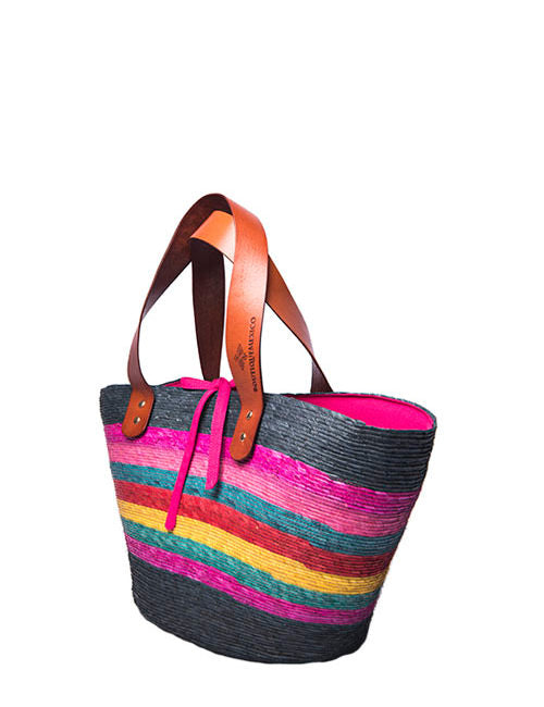 Small Multicolor Ibiza Palm Tote