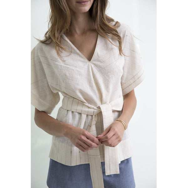 Ivory Cotton Valais Top