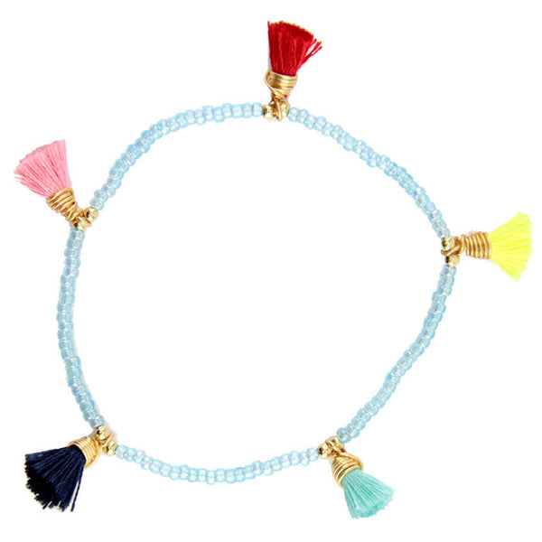 Light Blue Bimi Tassel Bracelet